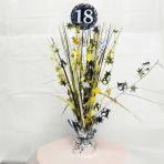 Gold Sparkling Celebration 18th Spray Centrepieces 33cm - 6 PC
