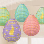 Mini Egg Lanterns 12cm - 6 PKG/5