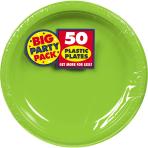 Kiwi Green Plastic Plates 18cm - 6 PKG/50