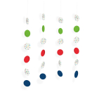 Confetti Birthday String Decorations 1.3m - 10 PKG/4