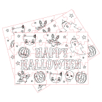 Halloween Colour-in Jigsaws - 12 PKG/8