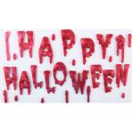 Bloody Happy Halloween Gel Cling - 12 PC