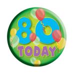 Age 80 Generic Badge  - 6.2cm - 6 PKG