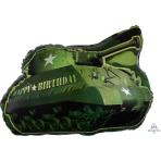 "Camouflage Birthday Army Tank SuperShape Foil Balloon -  5 PC 19""/48cm w x 26""/66cm h"