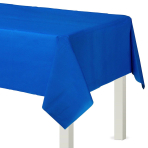 Bright Royal Blue Rectangular Plastic Tablecovers 1.37m x 2.74m - 12 PC