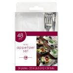 Mini Plastic Appetiser Set - 6 PKG/48