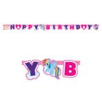 My Little Pony Happy Birthday Letter Banners 1.6m x 11cm - 10 PKG