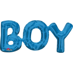 """Boy"" Phrase Blue SuperShape Foil Balloons 20""/50cm x 9""/22cm S55 - 5 PC"