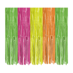 Neon Foil Door Curtains 90cm x 2.4m - 6 PC