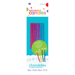 Glitter Assorted Sparkle Candles 17.7cm - 36 PKG/18