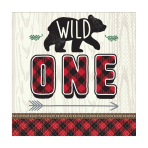 "Little Lumberjack ""Wild One"" Luncheon Napkins 33cm - 12 PKG/16"