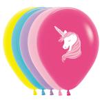 "Unicorn Assorted Latex Balloons 12""/30cm - 25 PC"