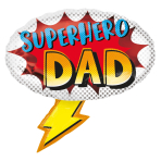 "Superhero Dad SuperShape Foil Balloons 27""/68cm x 26""/66cm P30 - 5 PC"