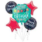 Birthday Celebration Foil Balloon Bouquets P75 - 3 PC