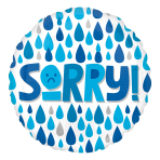 Sorry Raindrops Standard XL Foil Balloons S40 - 5 PC