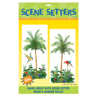 Palm Tree Scene Setter Add-Ons 85cm x 1.65m - 9 PKG/2