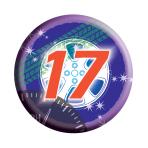 Age 17 Generic Badge  - 6.2cm - 6 PKG