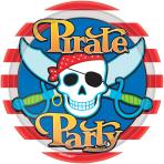 Pirate Party Paper Plates 22.8cm - 12 PKG/8
