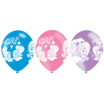 Shimmer & Shine 4 Sided Print Latex Balloons - 6 PKG/6