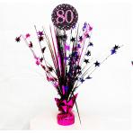 Pink Sparkling Celebration 80th Spray Centrepieces 45cm - 6 PC