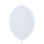 """Fashion Colour Link-O-Loon Solid White 005 Latex Balloons 12""""/30cm - 50 PC"""
