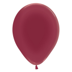 "Crystal Solid Burgundy 318 Latex Balloons 5""/13cm - 100 PC"