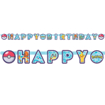 Pokémon Happy Birthday Letter Banners 2.18m x 12cm - 6 PC