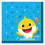 Baby Shark Luncheon Napkins 33cm - 6 PKG/16