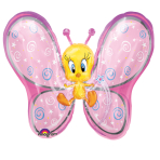 "Looney Tunes Tweety Fairy SuperShape Foil Balloons 27""/69cm w x 24""/61cm h P38 - 5 PC"