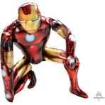 "Iron Man AirWalker Foil Balloons 37""/93cm w x 46""/116cm h P93 - 5 PC"