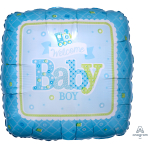 Welcome Baby Boy Train Standard Foil Balloons S40 - 5 PC