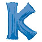 """Letter K Blue SuperShape Foil Balloons 34""""/""""86cm P50 - 5 PC"""