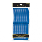 Bright Royal Blue Plastic Knives - 12 PKG/12