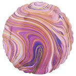 Marblez Purple Circle Standard HX Foil Balloons S15 - 5 PC