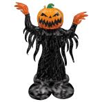 """Pumpkin Head Ghost AirLoonz Foil Balloons 37""""/93cm w x 53""""/134cm h P70 - 3 PC"""