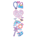 Princess Gemstone Stickles - 6 PC
