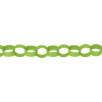 Kiwi Green Paper Chains Link Garlands 3.9m - 6 PC