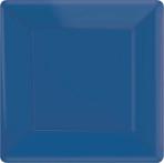 Bright Royal Blue Square Paper Plates 18cm - 6 PKG/20