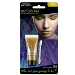 Gold Glitter Tubes 14ml Tube & Applicator - 6 PKG/2