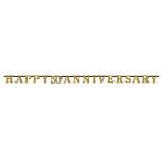 Sparkling Golden Anniversary Prismatic Letter Banners 3m x 17cm - 6 PC