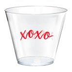 XOXO Hot Stamped Plastic Tumblers 266ml - 6 PKG/30
