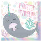 Narwhal Luncheon Napkins 33cm - 6 PKG/16