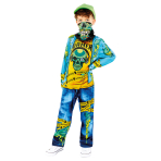 Gaming Zombie Costume - Age 10-12 Years - 1 PC