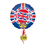 "Great Britain Union Jack Anthem Sing-A-Tune Foil Balloons 8""/71cm P60 - 5 PC"