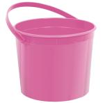 Pink Plastic Buckets 11cm h x 13cm dia - 12 PC