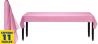 Baby Pink Plastic Tableroll 30m x 1m- 1 PC