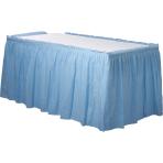 Pastel Blue Plastic Table Skirts 4.2m x 73cm - 6 PKG