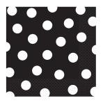 Jet Black Dots Luncheon Napkins 33cm - 12 PKG/16