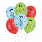 "Bing Standard Latex Balloons 4 Sided Print 11""/27.5cm - 6 PKG/6"