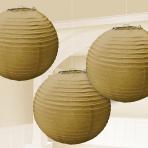 Gold Paper Lanterns 24cm - 6 PKG/3